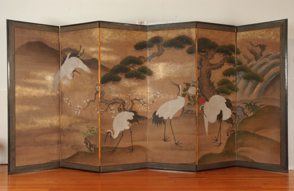 Cranes and Pine, Johnson Museum of Art, Cornell University