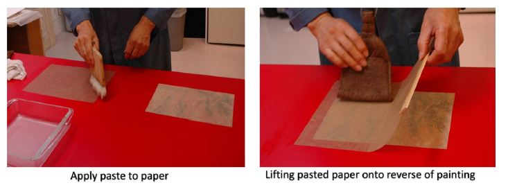 Second method - apply paste to lining paper